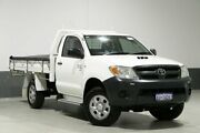 2006 Toyota Hilux KUN26R 06 Upgrade SR (4x4) White 5 Speed Manual Cab Chassis Bentley Canning Area Preview