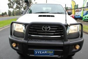 2012 Toyota Hilux KUN26R MY12 SR Double Cab White 4 Speed Automatic Utility West Footscray Maribyrnong Area Preview