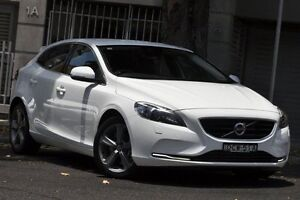 2015 Volvo V40 M MY15 D4 Luxury White 8 Speed Automatic Hatchback Mosman Mosman Area Preview