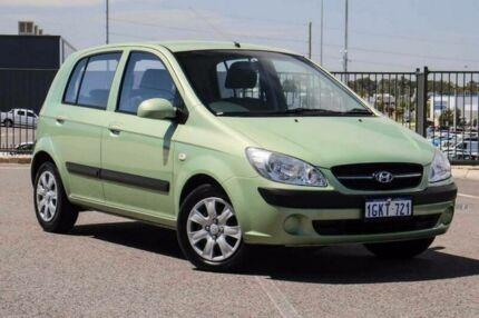 2009 Hyundai Getz TB MY09 S Green 4 Speed Automatic Hatchback Wangara Wanneroo Area Preview