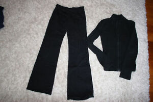 Capezio dance pants (L) and zippered, long sleeved shirt (S)