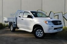 2008 Toyota Hilux KUN26R MY09 SR Xtra Cab White 5 Speed Manual Cab Chassis Derwent Park Glenorchy Area Preview