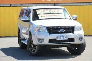 2010 Ford Ranger PK XLT Crew Cab Silver 5 Speed Automatic Utility Heatherton Kingston Area Preview