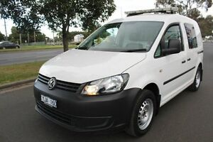 2011 Volkswagen Caddy 2KN MY11 TDI250 SWB DSG White 7 Speed Sports Automatic Dual Clutch Van West Footscray Maribyrnong Area Preview