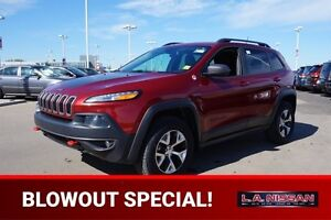 2014 Jeep Cherokee 4X4 TRAILHAWK Leather,  Heated Seats,  Back-u