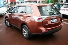 2012 Mitsubishi Outlander ZJ MY13 ES 2WD Orange 6 Speed Constant Variable Wagon Cannington Canning Area Preview