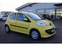 PEUGEOT 107 1.0 URBAN 5d 68 BHP 360 SPIN ON WEBSITE (yellow) 2008
