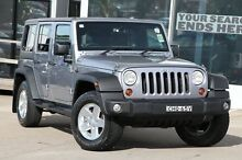 2013 Jeep Wrangler Unlimited JK MY13 Sport (4x4) Silver 6 Speed Manual Softtop Brookvale Manly Area Preview