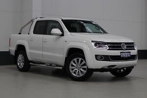 2016 Volkswagen Amarok 2H MY16 TDI420 Highline (4x4) White 8 Speed Automatic Dual Cab Utility Bentley Canning Area Preview