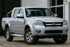 2010 Ford Ranger PK XLT Crew Cab Silver 5 Speed Manual Utility Invermay Launceston Area Preview