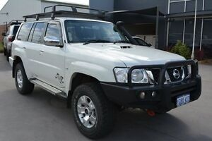2013 Nissan Patrol GU Viii ST (4x4) Pearl White 5 Speed Manual Wagon Welshpool Canning Area Preview