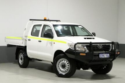 2014 Toyota Hilux KUN26R MY14 SR (4x4) White 5 Speed Manual Dual Cab Chassis Bentley Canning Area Preview