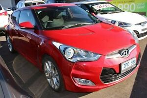 2013 Hyundai Veloster Red Sports Automatic Dual Clutch Hatchback Cranbourne Casey Area Preview