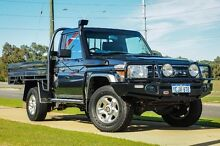 2011 Toyota Landcruiser VDJ79R MY10 GXL Graphite 5 Speed Manual Cab Chassis Wangara Wanneroo Area Preview