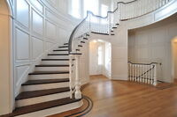 Hardwood flooring and Staircase