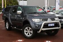 2009 Mitsubishi Triton MN MY10 GLX-R Double Cab Grey 5 Speed Sports Automatic Utility Cannington Canning Area Preview