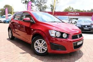 2013 Holden Barina TM MY13 CD Red 6 Speed Automatic Hatchback Campbelltown Campbelltown Area Preview