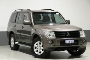 2013 Mitsubishi Pajero NW MY13 GLX-R LWB (4x4) Ironbark 5 Speed Manual Wagon