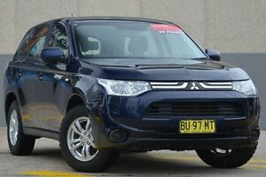 2013 Mitsubishi Outlander ZJ ES (4x2) Blue 5 Speed Manual Wagon Wolli Creek Rockdale Area Preview