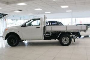 2014 Mazda BT-50 UP0YD1 XT 4x2 Hi-Rider White 6 Speed Sports Automatic Cab Chassis