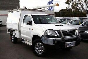 2011 Toyota Hilux White Manual Cab Chassis Frankston Frankston Area Preview