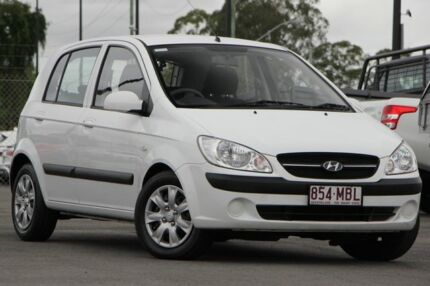 2010 Hyundai Getz TB MY09 S White 4 Speed Automatic Hatchback Brendale Pine Rivers Area Preview