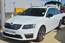 2015 Skoda Octavia NE MY16 RS 162TSI Moon White 6 Speed Manual Wagon Mandurah Mandurah Area Preview