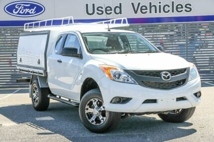 2015 Mazda BT-50 UP0YF1 XT Freestyle 4x2 Hi-Rider White 6 Speed Manual Cab Chassis Maddington Gosnells Area Preview