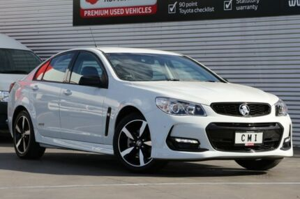 2016 Holden Commodore VF II MY16 SV6 Black White 6 Speed Sports Automatic Sedan Adelaide CBD Adelaide City Preview
