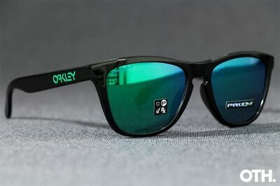Oakley Frogskins Sunglasses OO9245-6454 Polished Black W/ PRIZM Jade ASIA FIT