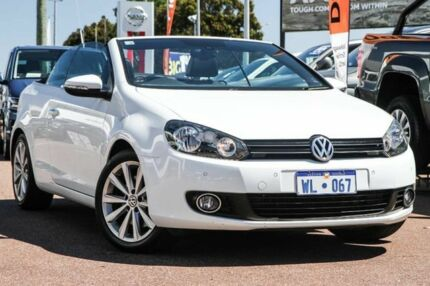 2013 Volkswagen Golf VI MY14 118TSI DSG White 7 Speed Sports Automatic Dual Clutch Cabriolet