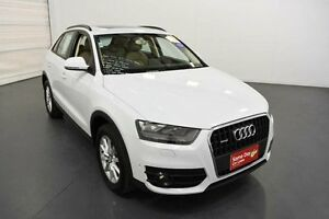 2013 Audi Q3 8U 2.0 TFSI Quattro (125KW) White 7 Speed Auto Dual Clutch Wagon Moorabbin Kingston Area Preview