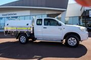 2013 Toyota Hilux KUN26R MY12 SR Xtra Cab Glacier White 5 Speed Manual Cab Chassis Wangara Wanneroo Area Preview
