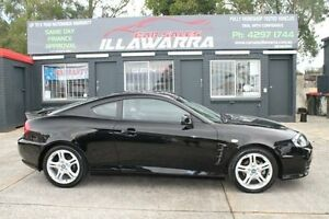 2005 Hyundai Tiburon GK MY05 V6 TS Black 4 Speed Automatic Coupe Barrack Heights Shellharbour Area Preview