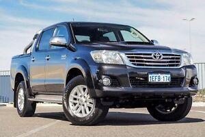 2013 Toyota Hilux KUN26R MY12 SR5 (4x4) Black 4 Speed Automatic Dual Cab Pick-up Wangara Wanneroo Area Preview