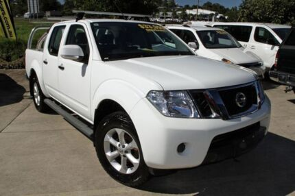 2012 Nissan Navara D40 S6 MY12 ST White 6 Speed Manual Utility Buderim Maroochydore Area Preview