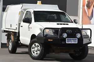2011 Toyota Hilux KUN26R MY12 Workmate Glacier White 5 Speed Manual Cab Chassis Glendalough Stirling Area Preview