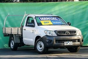 2011 Toyota Hilux TGN16R MY10 Workmate White 5 Speed Manual Cab Chassis Ringwood East Maroondah Area Preview
