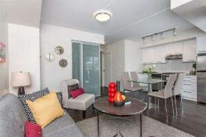 1+Den – Condo-style suites w/ in-suite laundry & A/C. Call now