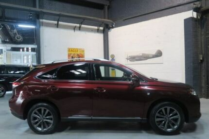 2013 Lexus RX350 GGL15R MY12 F Sport Red 6 Speed Sports Automatic Wagon Port Melbourne Port Phillip Preview