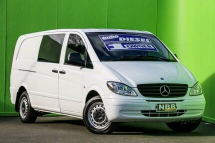2007 Mercedes-Benz Vito 639 MY07 115CDI Low Roof Extra Long White 5 Speed Automatic Van