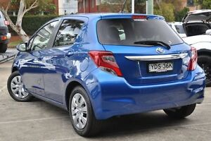 2016 Toyota Yaris NCP131R MY15 SX Blue 5 Speed Manual Hatchback Mosman Mosman Area Preview