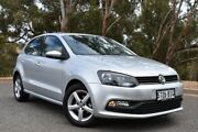 2016 Volkswagen Polo 6R MY16 66TSI Trendline Silver 5 Speed Manual Hatchback St Marys Mitcham Area Preview