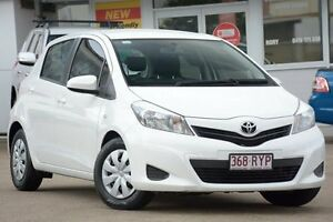 2011 Toyota Yaris NCP90R MY11 YR White 4 Speed Automatic Hatchback Woolloongabba Brisbane South West Preview