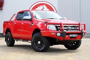 2012 Ford Ranger PX XLT Double Cab Red 6 Speed Sports Automatic Utility Lansvale Liverpool Area Preview