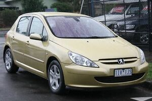 2003 Peugeot 307 2.0 Sahara Yellow 4 Speed Tiptronic Hatchback Briar Hill Banyule Area Preview