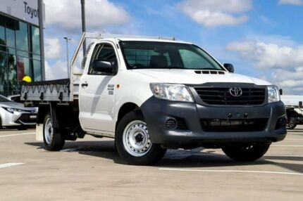 2013 Toyota Hilux KUN16R MY12 Workmate 4x2 Glacier White 5 Speed Manual Cab Chassis Blacktown Blacktown Area Preview