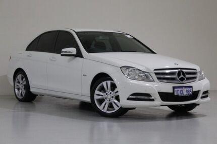 2012 Mercedes-Benz C200 W204 MY12 BE White 7 Speed Automatic G-Tronic Sedan