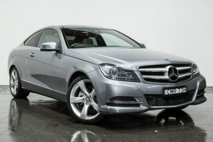 2012 Mercedes-Benz C250 C204 BlueEFFICIENCY 7G-Tronic + Grey 7 Speed Sports Automatic Coupe