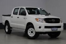 2006 Toyota Hilux KUN26R SR (4x4) White 5 Speed Manual Dual Cab Pick-up Bentley Canning Area Preview